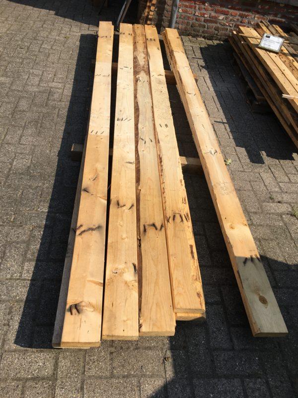 sloophouten balk 40x90mm x ca 3,6m