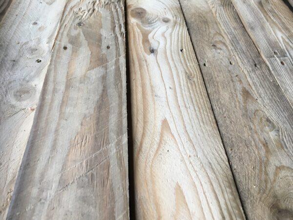 sloophouten planken wand
