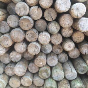 Rondhout paal vuren 7 8 diameter